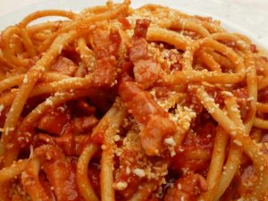 Learn Italian words: bucatini all'amatriciana - Presente progressivo